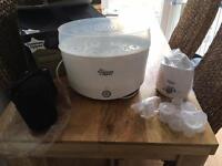 Tommee Tippee Electric Steriliser, bottle warm & Perfect Prep Machine