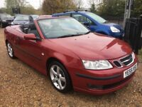 2005 SAAB 93 9-3 1.8 T VECTOR CONVERTIBLE AUTOMATIC RED 2DR CHERRY RED