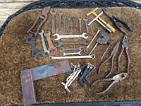Various vintage spanners