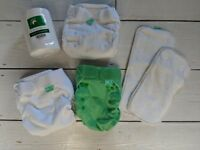 TotsBots One Size Trial Kit reusable nappies (never used, only pre-washed)