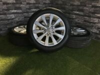 "17"" Genuine Audi A5 A6 C7 Alloy Wheels Tyres 4G"
