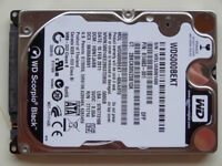 "WD Scorpio Black SATA III hard drive, 2.5"", 500GB, 7200rpm, 9.5mm high (WD5000BEKT)"
