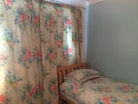 Matching set - Double width long curtains, 2 single duvet sets, 4 pillow cases and a 13.5 tog duvet