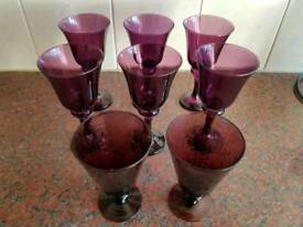 8 wine glasses