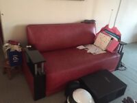 Free Sofa - Art Deco style red black and chrome