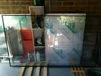 Double glazed glass unit 202x117cm