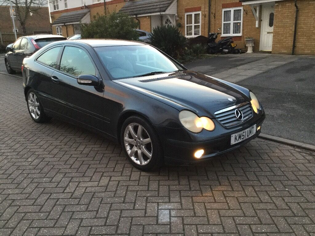 2001 mercedes benz c200 coupe kompressor 6 speed manual low mileage in putney london gumtree. Black Bedroom Furniture Sets. Home Design Ideas