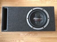 "10"" Pioneer TS-W2501D4 800 RMS /2500 watts in a Ported Box 33hz LOUD £100"