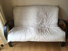 Habitat sofa, cream seat,black back