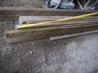 "8"" x 3/4"" x 80"" rough cut tanalized timber x 6 pieces"