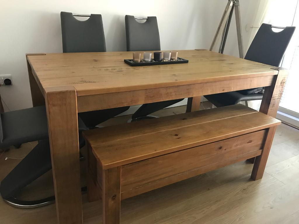 Excellent Next Hartford Solid Wood Dining Table And Storage Bench In Langley Park County Durham Gumtree Ibusinesslaw Wood Chair Design Ideas Ibusinesslaworg