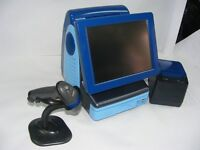 blue FAST epos till system very stylish with cash drawer printer scanner & full software license
