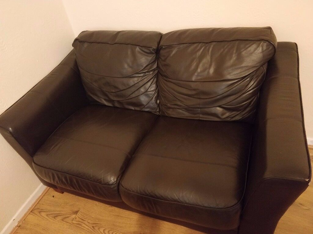 Incredibly Comfortable Leather Sofa £150 ONO