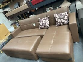 Luca L Shape Leather Sofa Beds Available In Different Sizes Order Now Fast