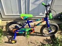 Apollo fade bike 16 inch wheels for age 4-7 RIDDEN ONCE COST £100