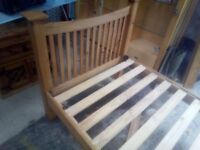 nice pine single bed with mattress