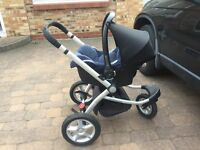 Two in one stroller & car seat