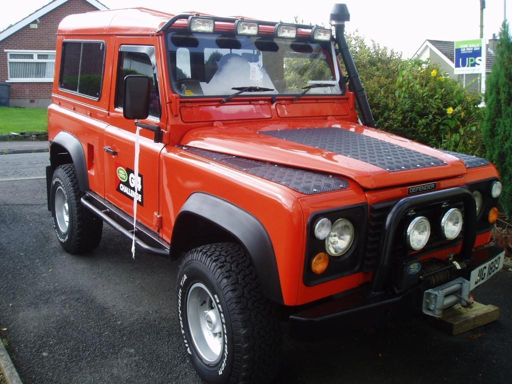 Tangiers Orange Landrover Defender For Sale G4 Style In