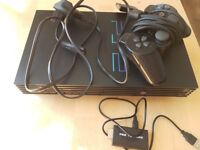 Playstation 2 PS2 Game Console With HDMI Adapter & New Controller, Recently Serviced!