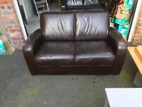 2 x leather 2 seater sofa's