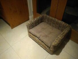 Prestige wicker dog bed settee