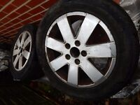 Alloy wheel rims - with tyres - for Ford Galaxy 2003 215/55 R16
