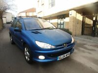 2004 PEUGEOT 206SW, 1.6 ONLY 61,000 MILES, SERVICE HISTORY, GOOD CODITION, REAR SENSORS