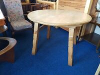 Solid Pine Round Dining Table