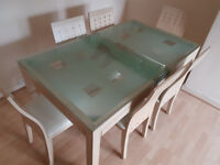 dining table and 6 chairs BONESS