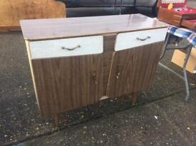 Retro/Vintage Kitchen/Dining Room Suite, Sideboard, Table and 4 Chairs 1950's TO CLEAR