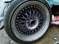 """17"""" 4x100 4x108 PEUGEOT CITROEN VW MAZDA E30 BBS STYLE ALLOY WHEELS"""