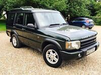 LAND ROVER DISCOVERY 2.5 TD5 2003(03)REG*7 SEATER*FACE-LIFT MODEL**IN METALLIC GREEN**