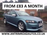 2007 VOLVO C30 1.6 D SPORT R-DESIGN ** FINANCE AVAILABLE ** SERVICE HISTORY ** ALL CARDS ACCEPTED