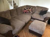 Corner Sofa and Puff