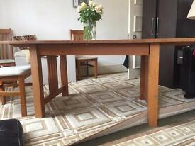 Solid wooden dining table (john Lewis)