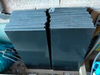 Black Polished Tiles - Wall or Floor use 600mm x 300mm (Pack of 45)