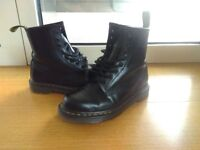 Black size 5 womens Dr Martens 9 hole boots, lightly worn