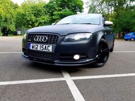 "MINT Audi A4 2.0 TDI 170 REMAP 220 Manual S Line Matte Black, FSH 18"" Rotor MUST BE SEEN! FAST SALE!"