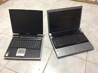 2 Laptops, Dell Studio 1737 & Toshiba Satellite Pro A10 spare or repair