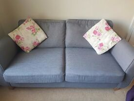 DFS grey 2 seater and 3 seater sofa for sale