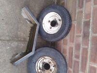 car trailor wheels and tyres daxtara mudguard