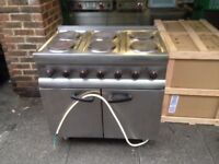 CATERING COMMERCIAL 6 RING ELECTRIC COOKER UNDER OVEN CAFE KEBAB CHICKEN RESTAURANT TAKE AWAY SHOP