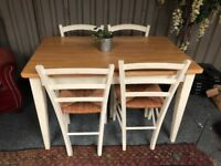 Solid beech table and four chairs - John Lewis