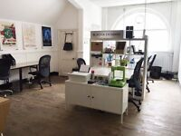 Creative Studio desk space available in Haggerston/Regents Canal
