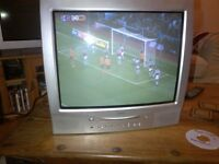 old style TV set in excellent condition but DVD drawer not opening, ideal for old games