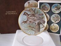 Franklin Porcelain plates with Basil Ede gamebirds design.