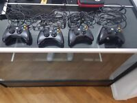 Microsoft xbox controller for xbox 360 and pc black x 4