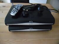 2 x Sky+HD boxes both with mains power leads - 1 remote control