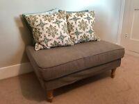 Like new grey IKEA Stocksund footstool / pouffe