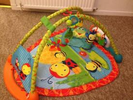 Fisher price activity gym with play table